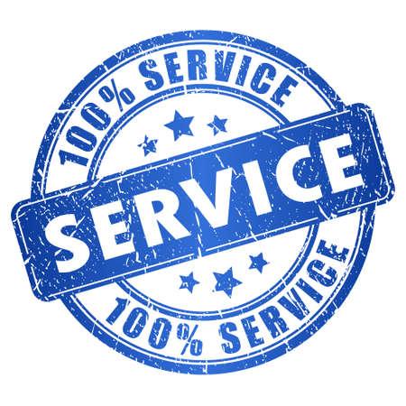 サービスのスタンプ  イラスト・ベクター素材