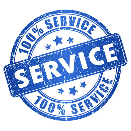 Service stamp Vector