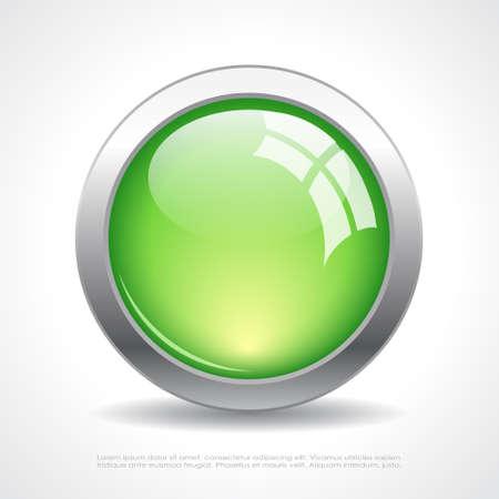 Glass web button Vector