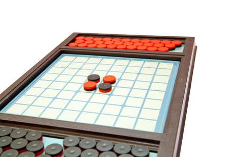 Strategic othello game, selective focus