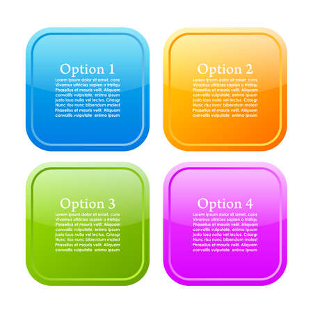 Options info buttons Vector