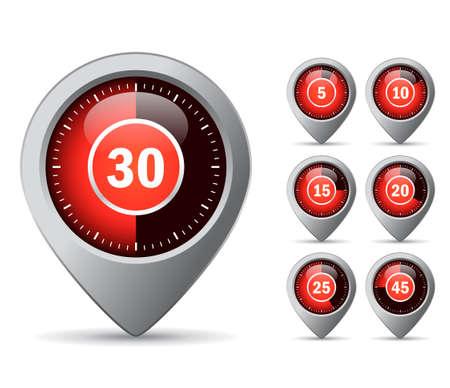 Timer icon Stock Vector - 30695260