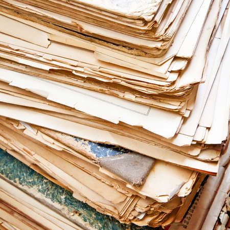 old papers: Heap of old papers