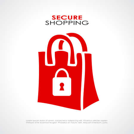 secure shopping: Secure shopping symbol