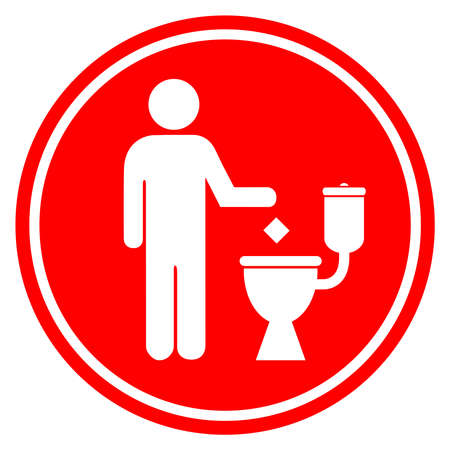 Do not liiter in toilet Vector