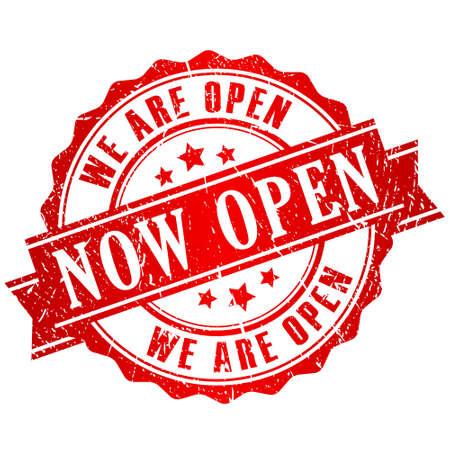 Timbre vecteur maintenant ouvert Banque d'images - 30822949