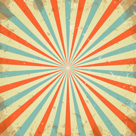 rays: Vintage abstract background Illustration