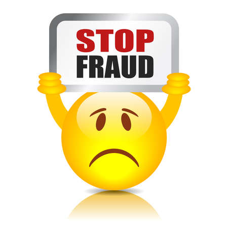 scam: Stop fraud sign Illustration