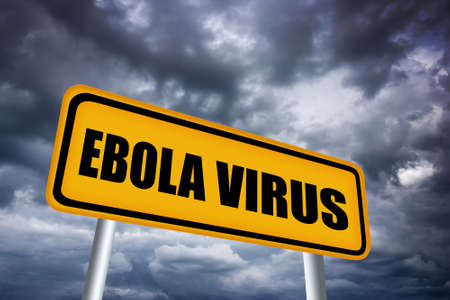 ebola: Ebola virus, illustrated warning sign