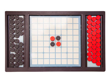 dexterity: Table game isolated on white Stock Photo