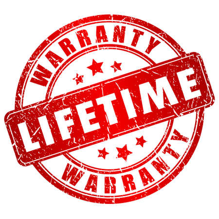 Lifetime warranty stamp
