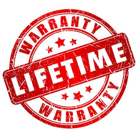 lifetime: Lifetime warranty stamp