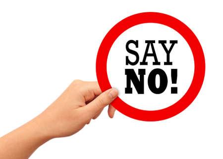 Say no sign Archivio Fotografico