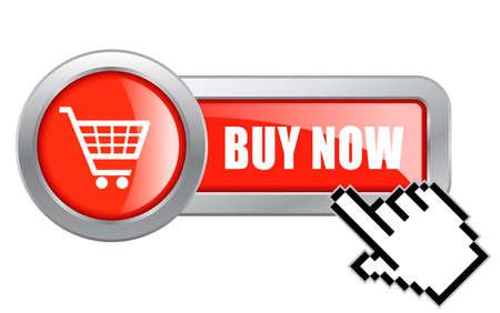Buy now button Stock Illustratie