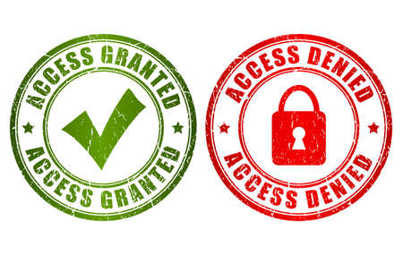 Access granted denied stamp Vector