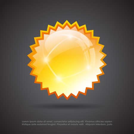 Splash glass star Vector