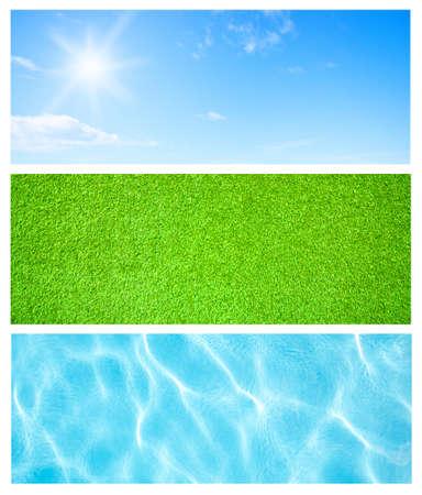 herbe ciel: Milieux naturels, ciel herbe eau Banque d'images