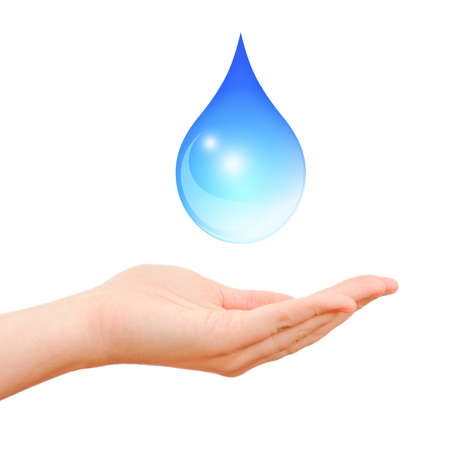 sparingly: Save water symbol