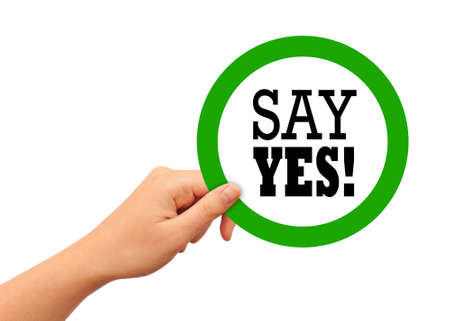 say: Say yes sign