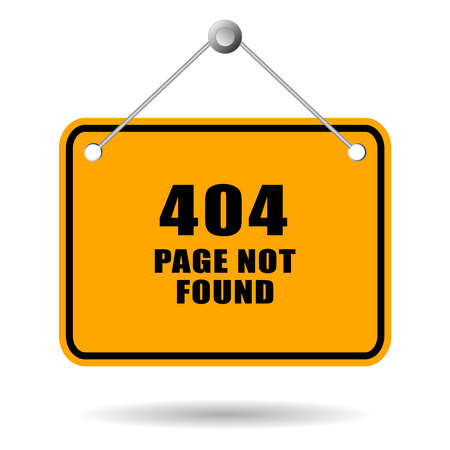 page not found: 404 page not found sign Illustration