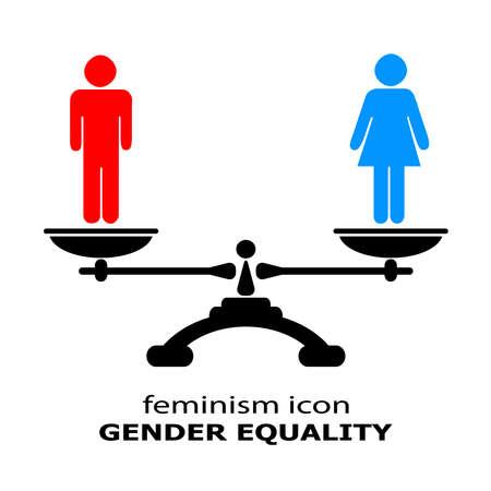 Geslacht pictogram gelijkheid Stockfoto - 32382658