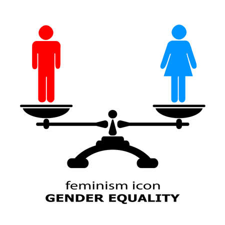 Icono de la igualdad de género Foto de archivo - 32382658