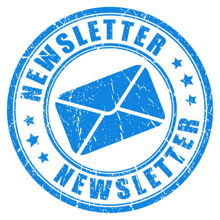 Newsletter stamp Фото со стока - 32382662