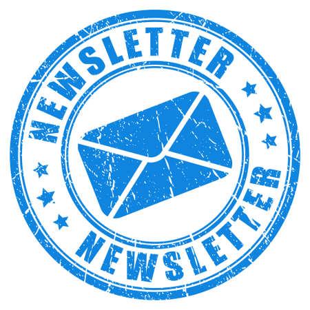zeehonden: Nieuwsbrief stempel Stock Illustratie