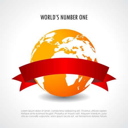 numero uno: Mundos n�mero uno s�mbolo Vectores