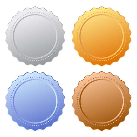 Icona sigillo certificato Vettoriali