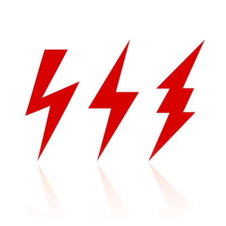 Simbolo del fulmine Vettoriali