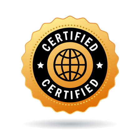 accredited: Certified seal Illustration