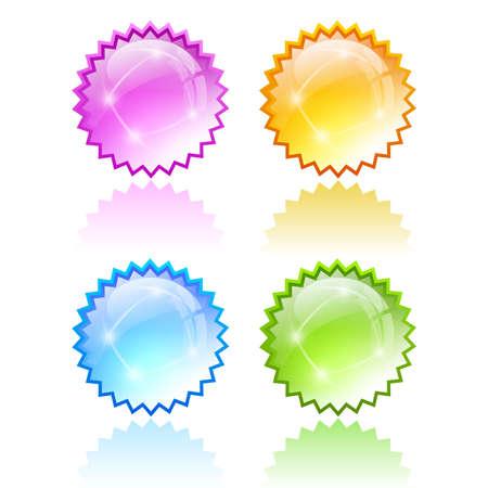 Star bursting icons Vector