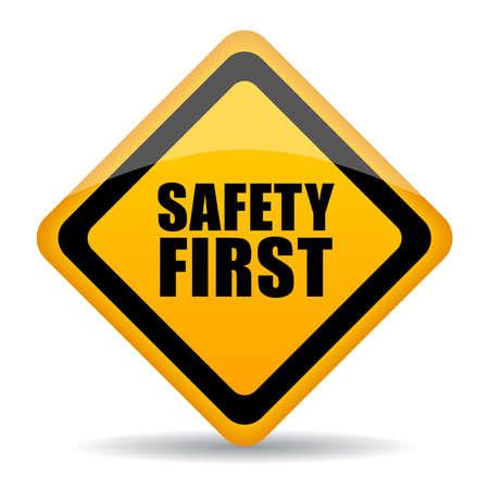 Veiligheid eerste teken Stock Illustratie