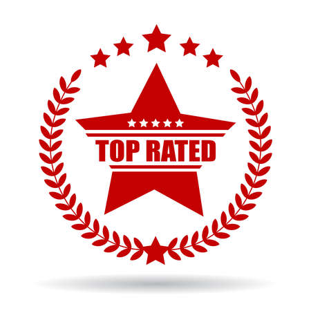 rated: Top rated product sign