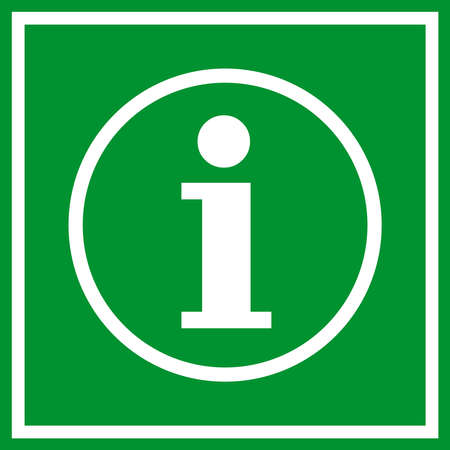 inquiring: Information sign