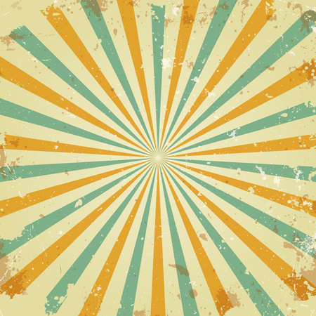 grunge shape: Retro rays background Illustration