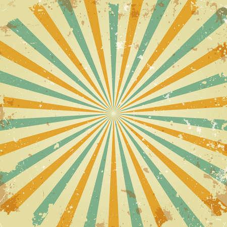 Retro Strahlen Hintergrund Illustration