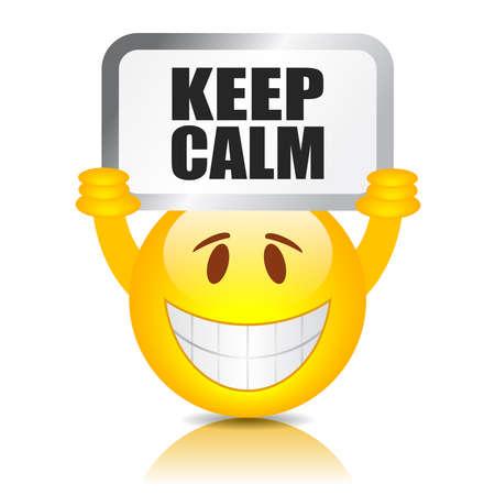 guardar silencio: Mantenga la calma Vectores