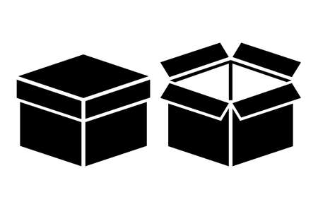 closed box: Open and closed boxes Illustration