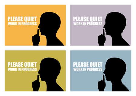 stil zijn: Quiet icoon Stock Illustratie