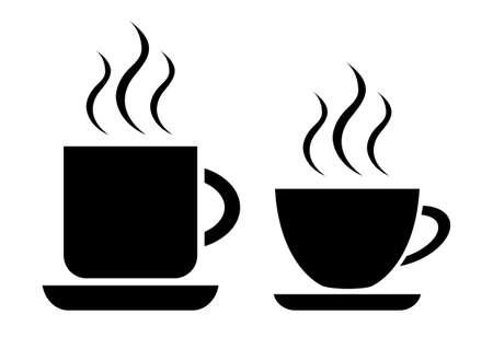 tazza di th�: Caff� e tazza di t�