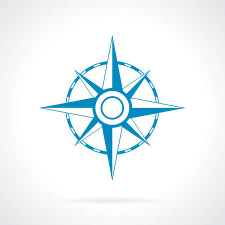 Wind rose icon Vector