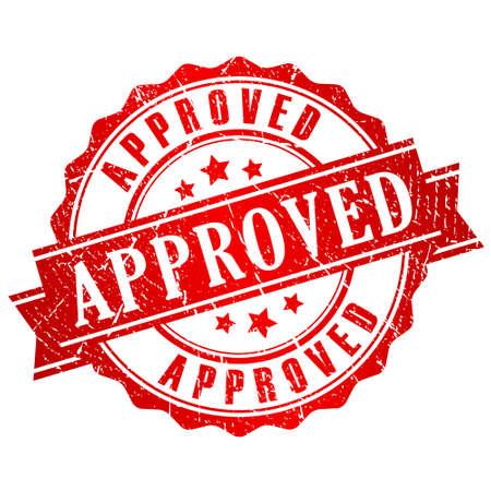 proved: Approvato timbro vettoriale