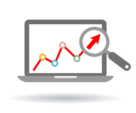 market research: Growth trend icon Illustration
