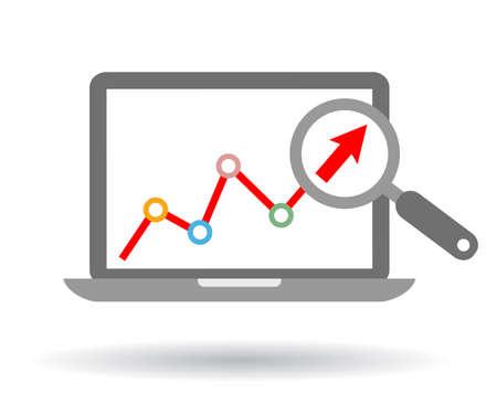 Growth trend icon Illustration