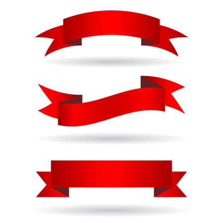 rood teken: Lint banners Stock Illustratie