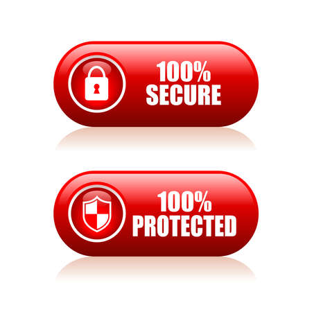 trusty: 100 secure button Illustration