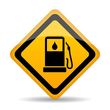 Petrol gas station sign