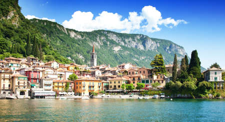 lake como: Varenna village, Como lake, Italy Stock Photo